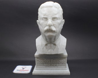 Theodore Roosevelt Teddy USA President #26 7 inch 3D Printed Bust