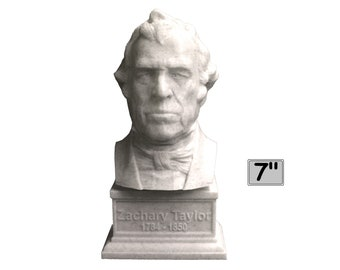 Zachary Taylor USA President #12 7 inch 3D Printed Bust