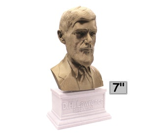 D.H. Lawrence British Writer and Poet 7 inch 3D Printed Bust