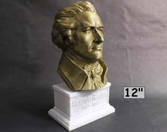Alexander Hamilton Founding Father 12 inch 2 color 3D Printed Bust