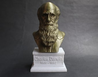 Charles Darwin Famous English Naturalist, Geologist, and Biologist 12 inch 3D Printed Bust