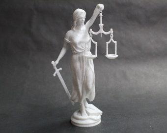Lady Justice (lustitia, Justitia, Themis, Dike Greek Goddesses) FDM 3D Printed Statue Art