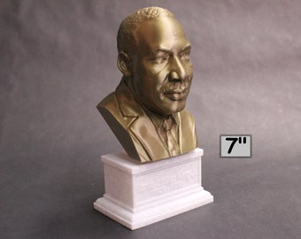Martin Luther King Jr, Activist and Reform leader 7 inch 3D Printed Bust