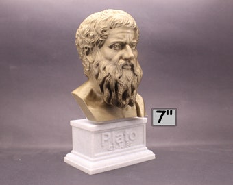 Plato Athenian Philosopher 7 inch 3D Printed Bust