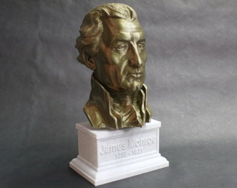 James Monroe USA President #5 12 inch 2 color 3D Printed Bust