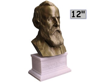 Rutherford B. Hayes USA President #19 12 inch 2 color 3D Printed Bust