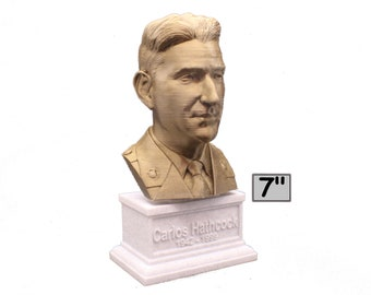 "Carlos ""White Feather"" Hathcock Legendary US Marine Corps Marksman Sniper 7 inch 3D Printed Bust"