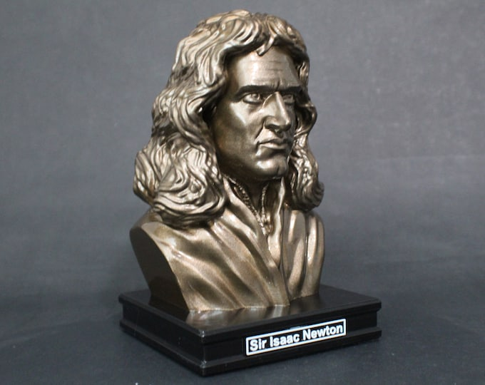 Featured listing image: Sir Isaac Newton 8 inch Premium Bust Solid Hand Finished Original Dated Sculpture
