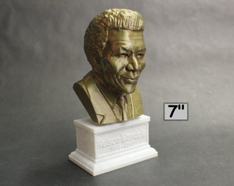 Nelson Mandela South African Anti-Apartheid Revolutionary 7 inch 3D Printed Bust