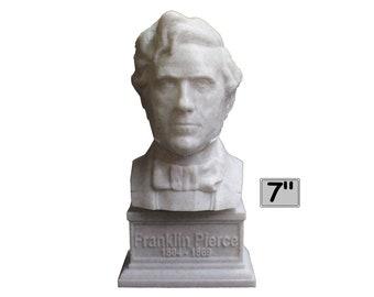 Franklin Pierce USA President #14 7 inch 3D Printed Bust