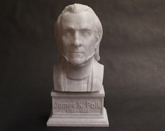 James K. Polk USA President #11 7 inch 3D Printed Bust