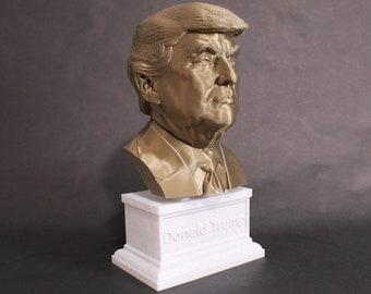 Donald Trump USA President #45 12 inch 2 color 3D Printed Bust