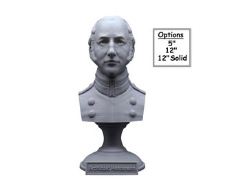 "Archibald Henderson USMC ""Grand old Man of the Marine Corps"" Commandant 3D Printed Bust"