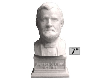 Ulysses S. Grant USA President #18 7 inch 3D Printed Bust