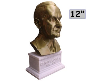 Calvin Coolidge USA President #30 12 inch 2 color 3D Printed Bust