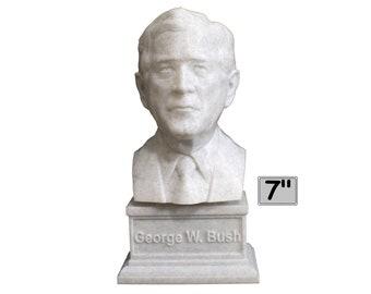 George W. Bush USA President #43 7 inch 3D Printed Bust
