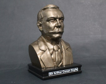 Sir Arthur Conan Doyle 8 inch Premium Solid Bust | Sculpture Art | Writer Gift | Library | Study | Classroom | Faces of History