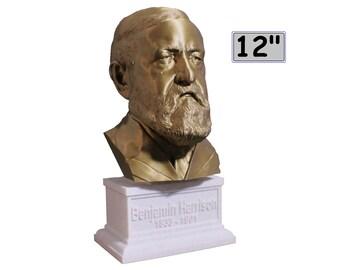 Benjamin Harrison USA President #23 12 inch 2 color 3D Printed Bust