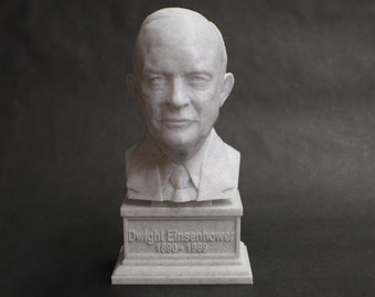 Dwight D. Eisenhower USA President #34 7 inch 3D Printed Bust