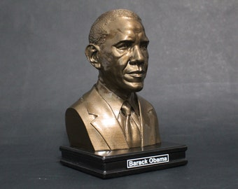 Barack Obama 8 inch Premium Solid Bust | Sculpture Art | US President | Library | Study | Classroom | Faces of History