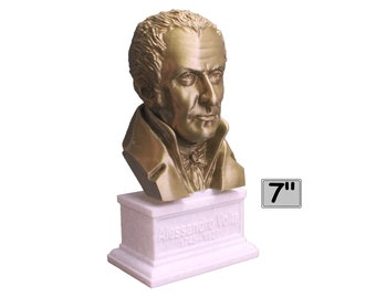 Alessandro Volta Italian Pioneer of Electricity and Power 7 inch 3D Printed Bust