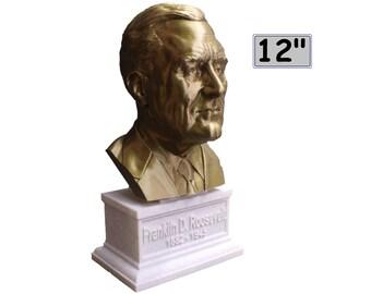 Franklin Delano Roosevelt FDR USA President #32 12 inch 2 color 3D Printed Bust