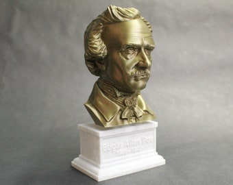 Edgar Allan Poe, American Writer, Editor, Poet, and Literary Critic 7 inch 3D Printed Bust