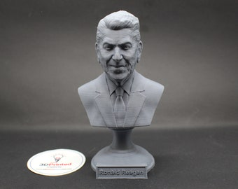 Ronald Reagan USA President #40 5 inch 3D Printed Bust