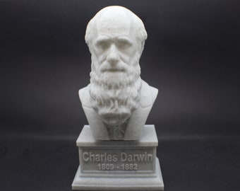 Charles Darwin 7 inch 3D Printed Bust