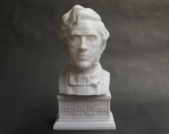 Franklin Pierce USA President #14 7 inch 3D Printed Bust