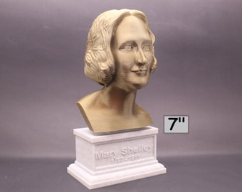 Mary Shelley, English Novelist 7 inch 3D Printed Bust
