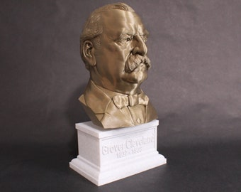 Grover Cleveland USA President #22 12 inch 2 color 3D Printed Bust
