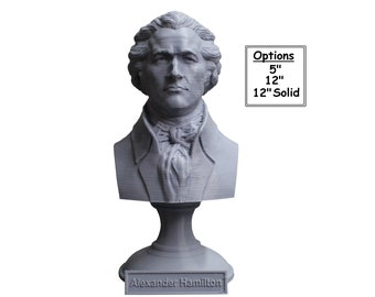 Alexander Hamilton Founding Father 3D Printed Bust