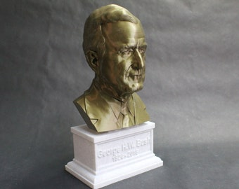 George H.W. Bush USA President #41 12 inch 2 color 3D Printed Bust