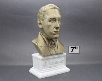 H.P. Lovecraft Famous American Writer 7 inch 3D Printed Bust