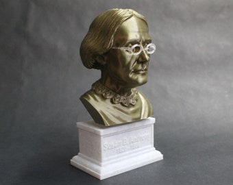 Susan B. Anthony American Social Reformer and Women's Rights Activist 7 inch 3D Printed Bust