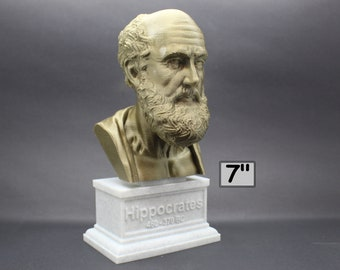 Hippocrates of Kos Greek Physician Father of Medicine 7 inch 3D Printed Bust