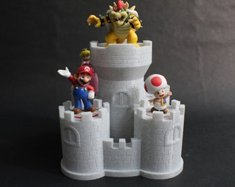 Bowser's Keep display for Amiibo Figures for Nintendo Switch, 3DS, and Wii U