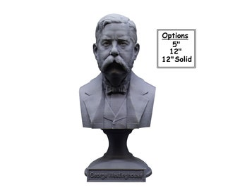 George Westinghouse Jr. Famous American Businessman and Engineer 5 inch 3D Printed Bust