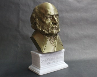John Quincy Adams USA President #6 12 inch 2 color 3D Printed Bust