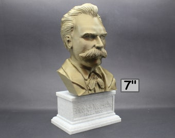Friedrich Nietzsche German Philosopher, Cultural Critic, Composer, and Poet 7 inch 3D Printed Bust