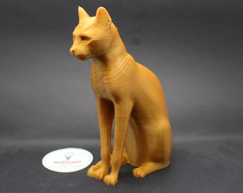 Gayer Anderson Cat Egyptian Deity Bastet Replica 3D Printed Sculpture