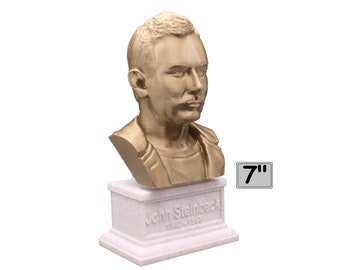 John Steinbeck American Author 7 inch 3D Printed Bust