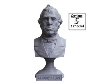Zachary Taylor USA President #12 5 inch 3D Printed Bust