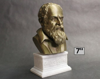 Galileo Galilei, Italian Polymath, Astronomer, Physicist, and Engineer 7 inch 3D Printed Bust