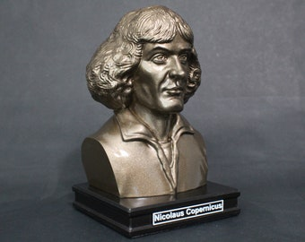 Nicolaus Copernicus 8 inch Premium Bust Solid Hand Finished Original Dated Sculpture