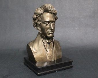 Søren Kierkegaard  8 inch Premium Bust Solid Hand Finished Original Dated Sculpture