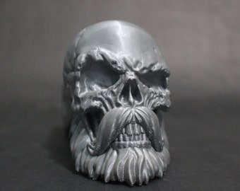 """Bald Bearded Skull Trailer Tow Hitch Receiver Plug Cover that fits 2"""" Receivers for car, truck, or SUV"""
