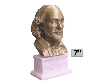 William Shakespeare, English Poet, Playwright, and Actor 7 inch Bust