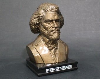 Frederick Douglass 8 inch Premium Bust Solid Hand Finished Original Dated Sculpture